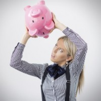 Image of a woman with low superannuation savings.