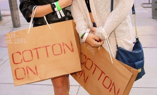 Cotton On shopping bags