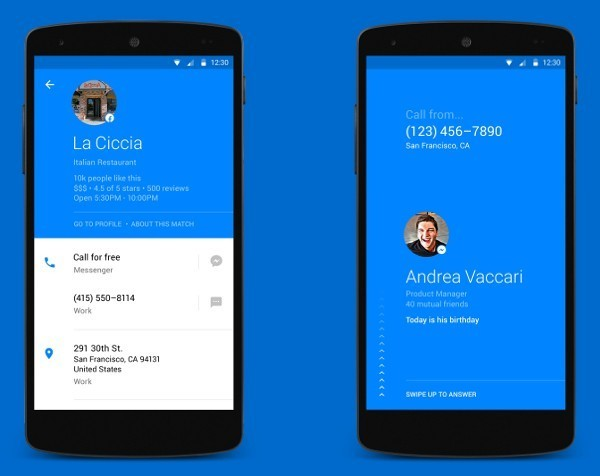 Facebook launches phone app that shows profile information when someone calls