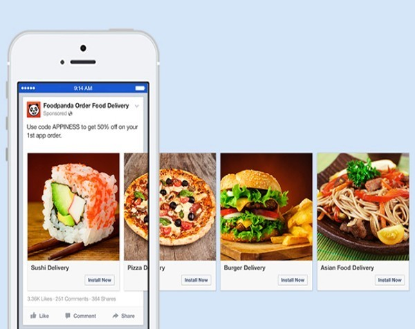 Facebook claims its new mobile ad format can boost click-through by 180%