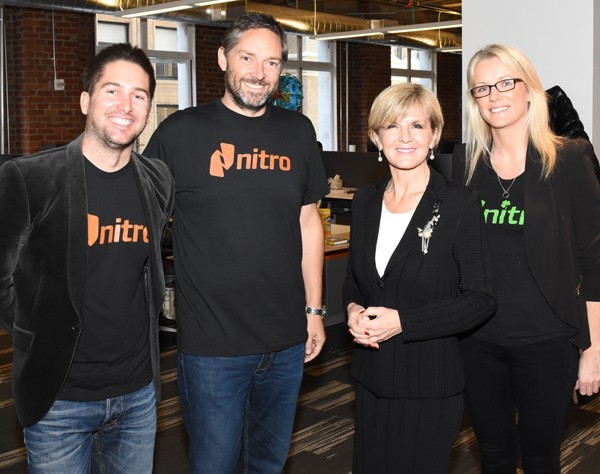 """Walking the walk"" – Julie Bishop visits Aussie entrepreneurs in Silicon Valley"