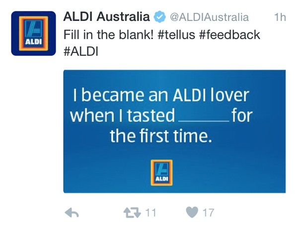 Aldi social media campaign backfires after Twitter users were asked to fill in the blanks