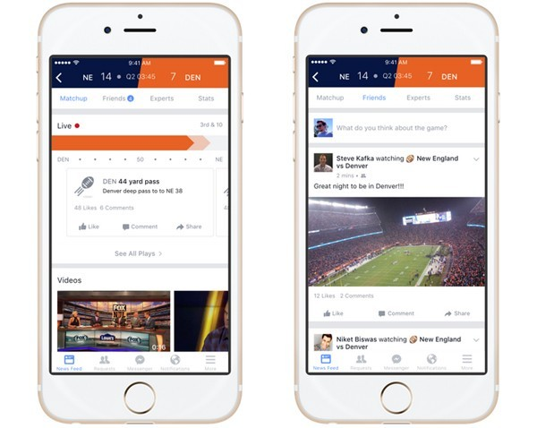 Facebook makes a play for sports fans with live feed