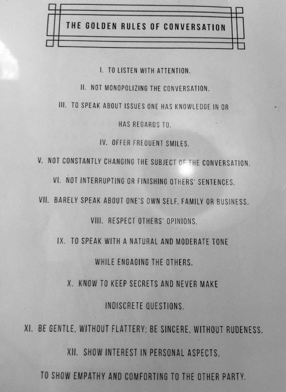 Naomi Simson golden rules of conversation