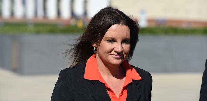 Jacqui Lambie outside parliament
