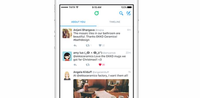 About you custom feed - Twitter Desktop