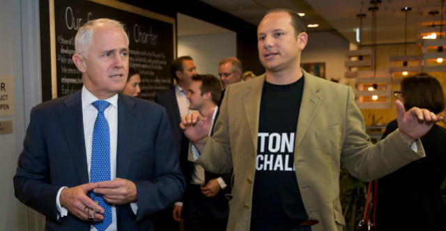 Malcolm Turnbull and Stone & Chalk CEO Alex Scandurra