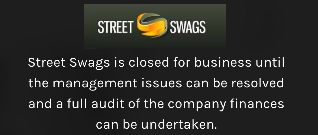 A Screenshot from the Street Swags website on Wednesday July 20