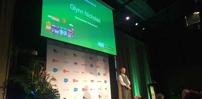 Glynn Nicholas at the Victorian Small Business Festival