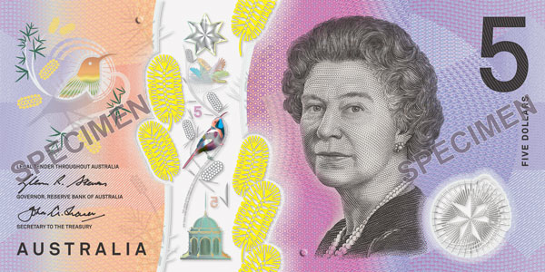 Five dollar bank note