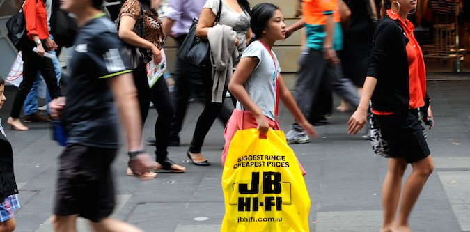 JB Hi-Fi shoppers