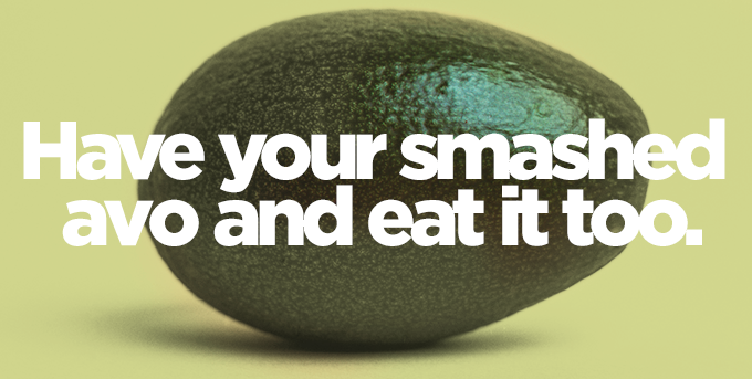 ME Bank smashed avocado