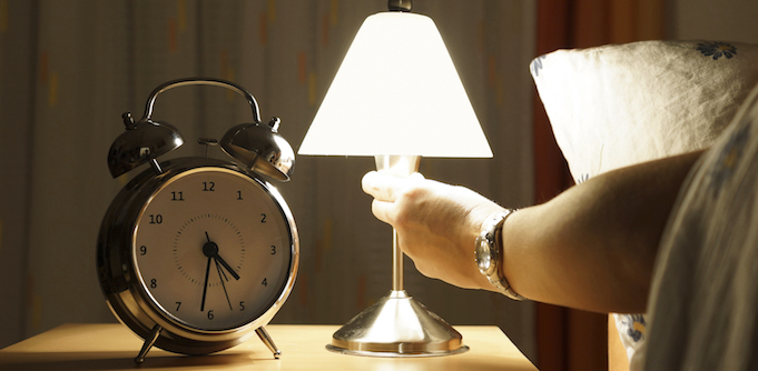 Turning off a bedside lamp