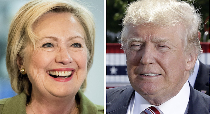 Hillary Clinton and Donald Trump US election 2016