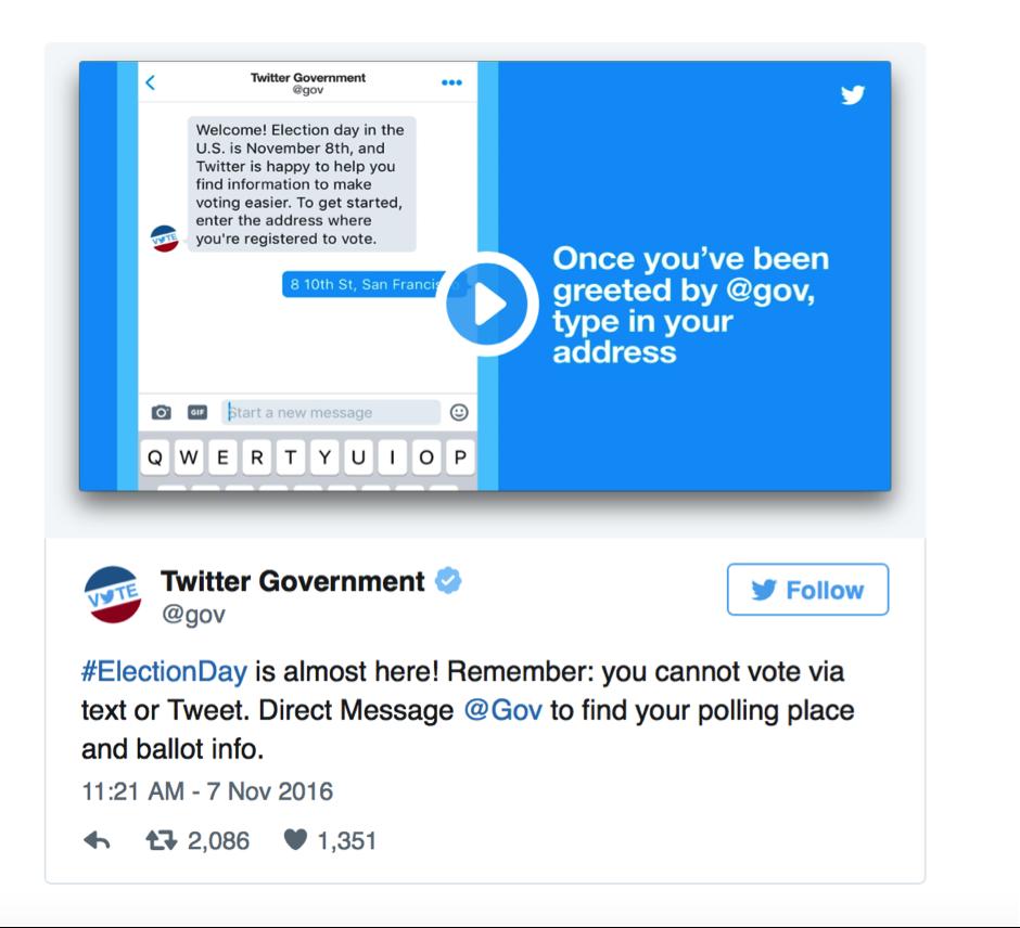 US election social media