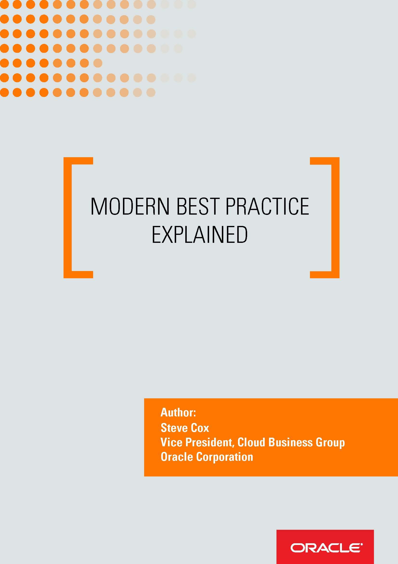 Modern Best Practice Explained