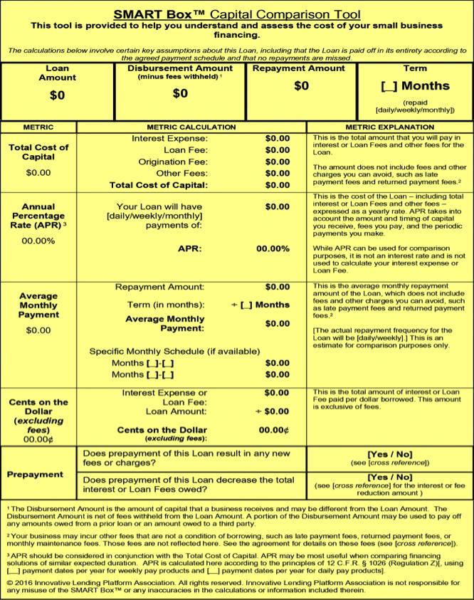 Smart Box Term Loan example