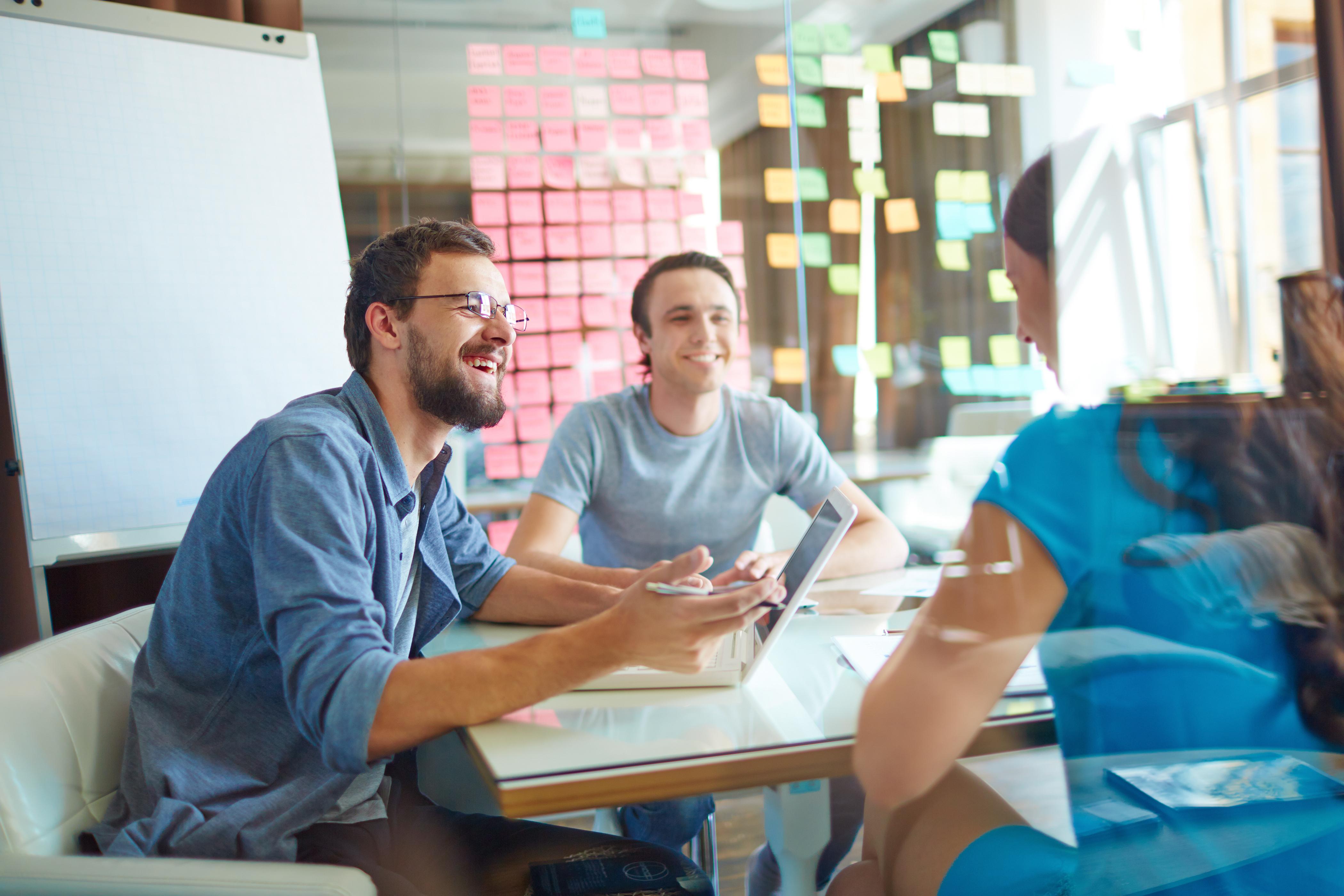 business partners, job seekers
