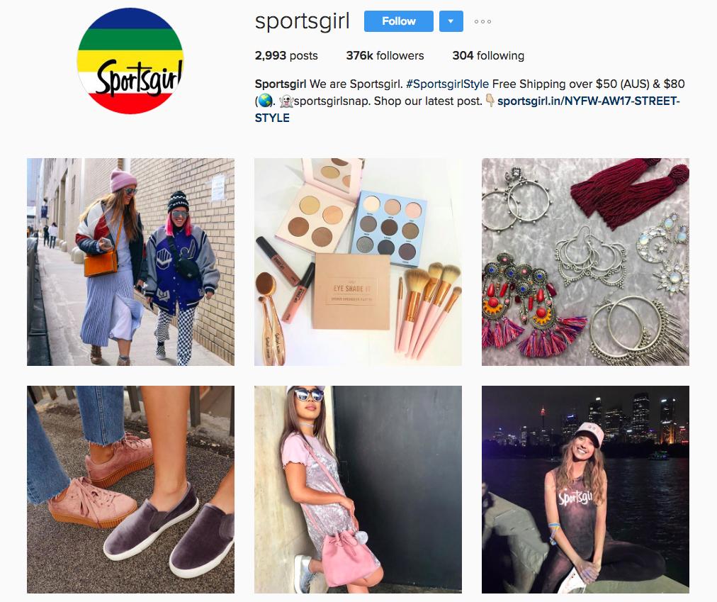 Sportsgirl instagram