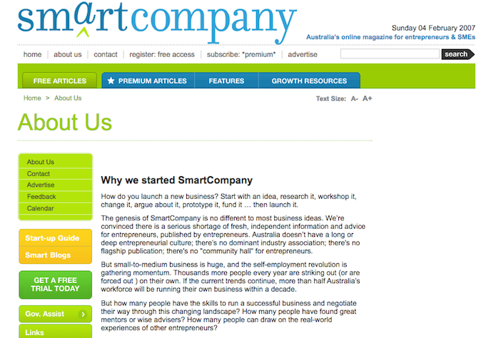 SmartCompany in 2007