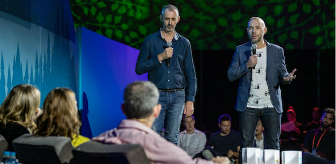 PractiFI founders pitching at Salesforce World Tour in Sydney