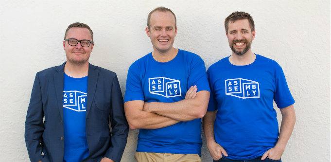 From left to right- Darren McMurtrie (co-founder & CXO), Simon Lee (co-founder and CEO), Simon Jones (co-founder & CTO)