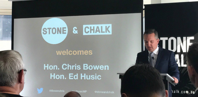 Chris Bowen at Stone & Chalk
