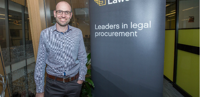 Lawcadia CEO and founder Warwick Walsh