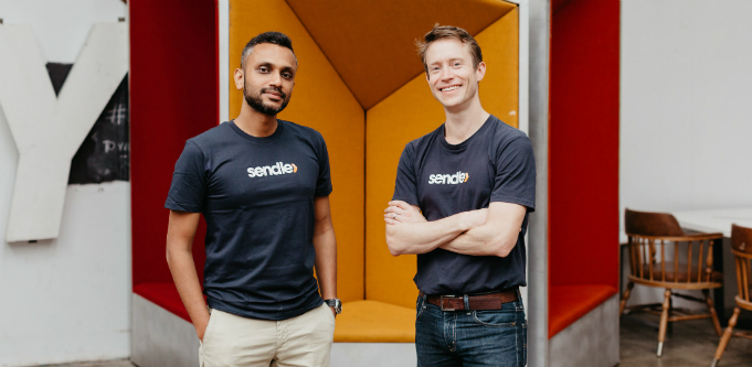 [Left to right] Sendle's head of growth Apurva Chiranewala and co-founder James Chin Moody