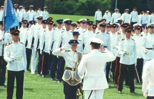 Receiving a military award