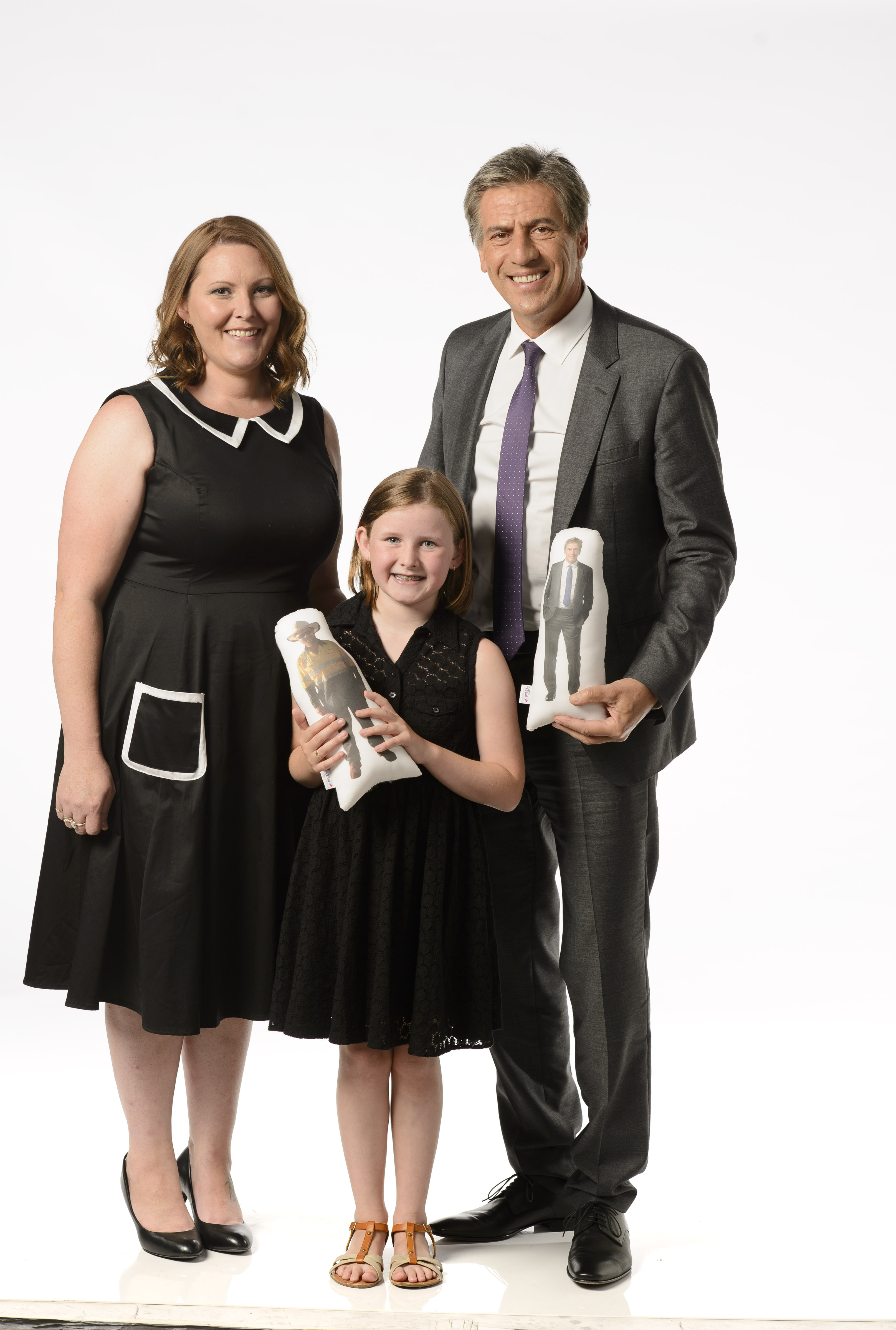 Lauren Martin, her daughter Lily, and Andrew Banks. Source: Supplied