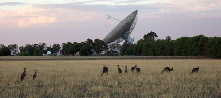 space satellite dish