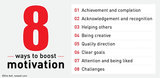 Eight ways to boost motivation