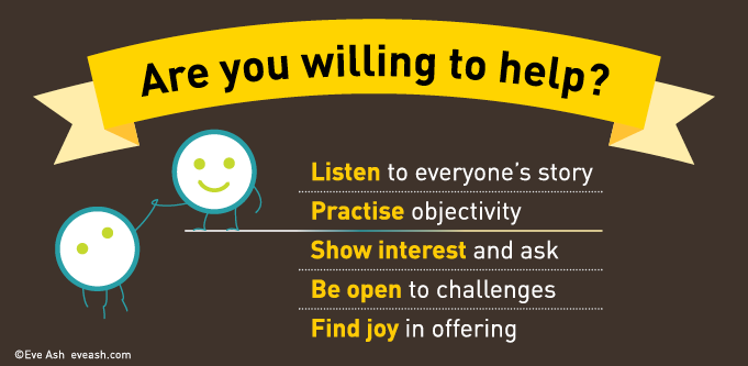 Are you willing to help in the workplace?