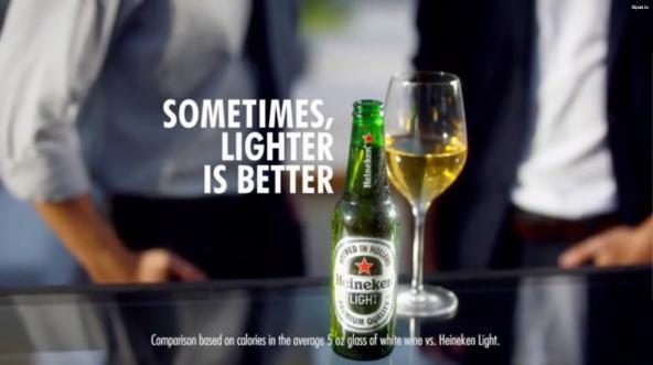 Heineken Light advertisement