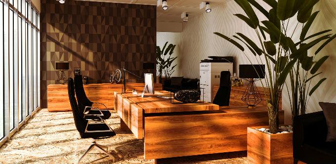 Office design in wood