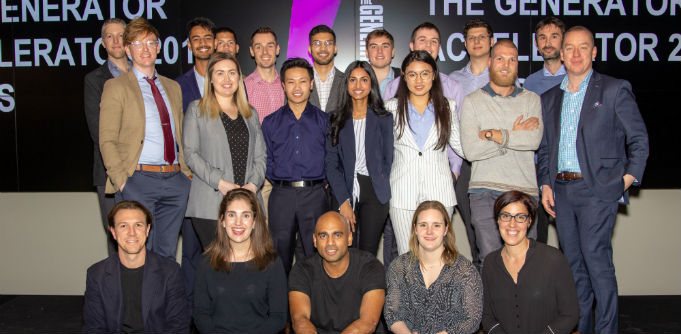 The 2018 cohort for Monash University's The Generator startup accelerator. Source: Supplied.