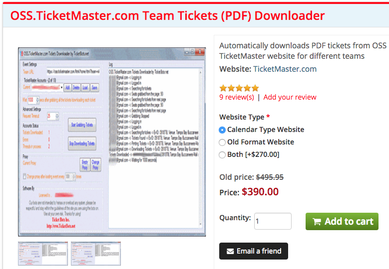 New Daily ticket scalping bots