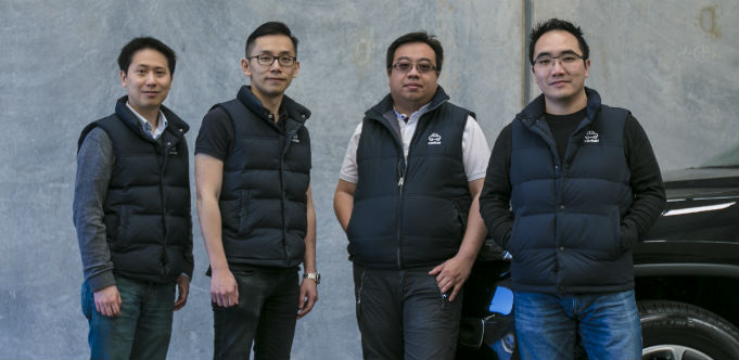 Carbar co-founders Davie Saw, Desmond Hang, Kenneth Teh and Richard Chen. Source: Supplied.