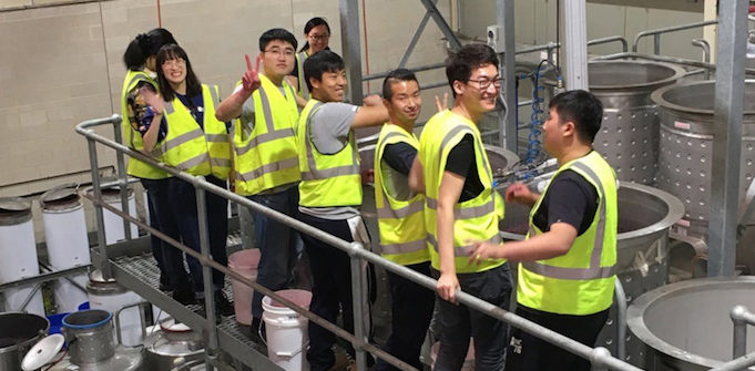 Chinese winemaking students