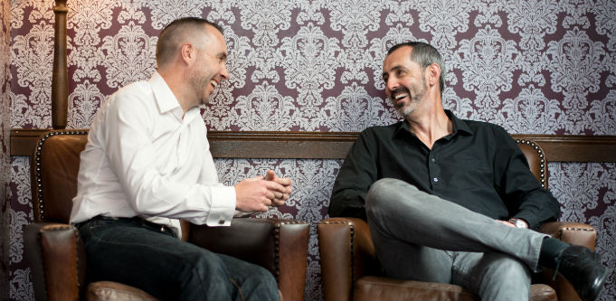 PractiFI founders Glenn Elliott and Adrian Johnstone. Source: Supplied.