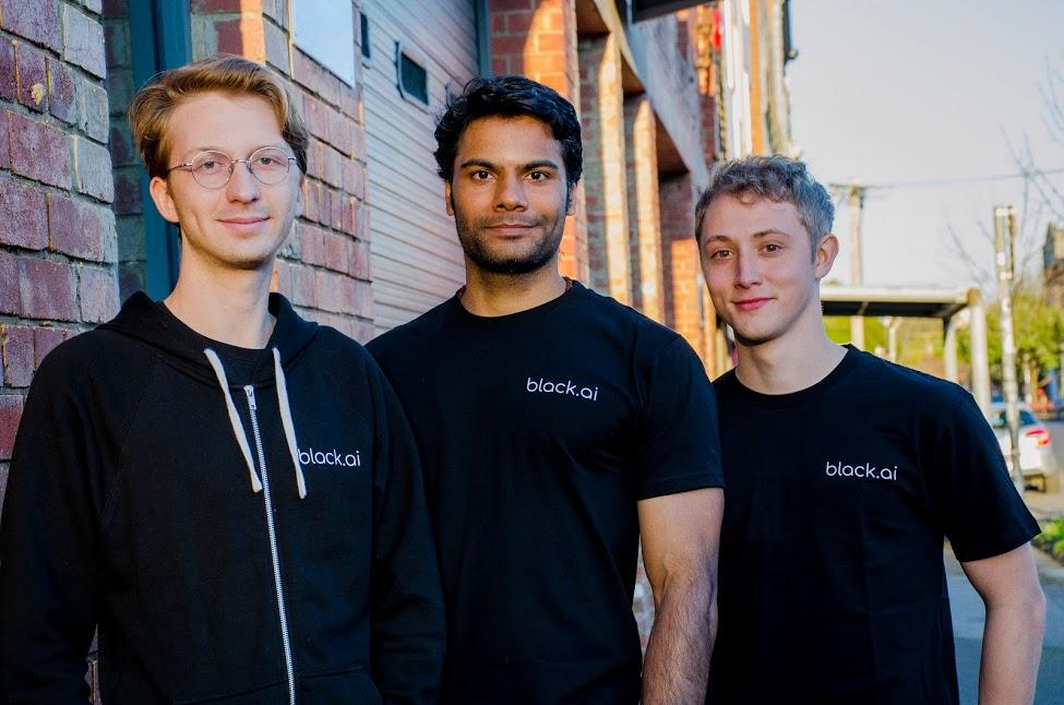 Black.ai founders Sebastien Collier, Karthik Rajgopal and Keaton Okkonen.
