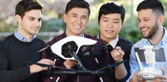 blockchain drones