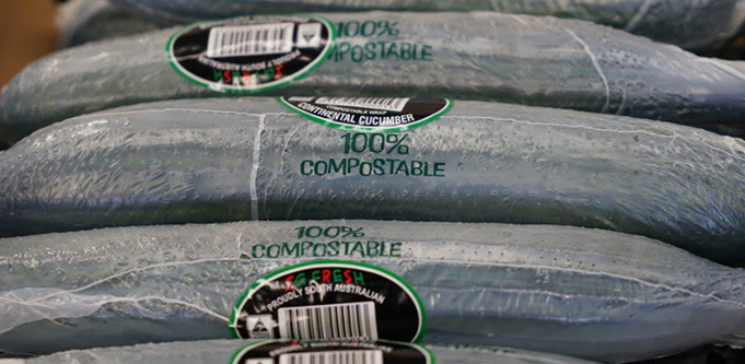 Compostable cucumber wraps