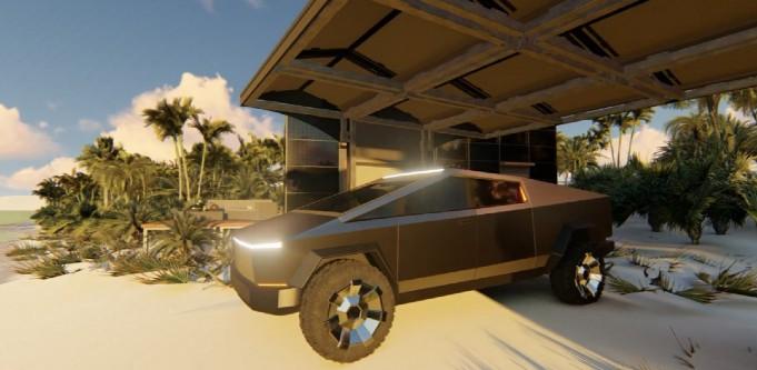 Cybertruck carport