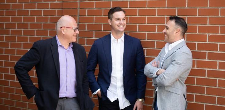 Funding.com.au-founder-Jack-O'Reilly-EVP's-Les-Szekely -Daniel-Szekely