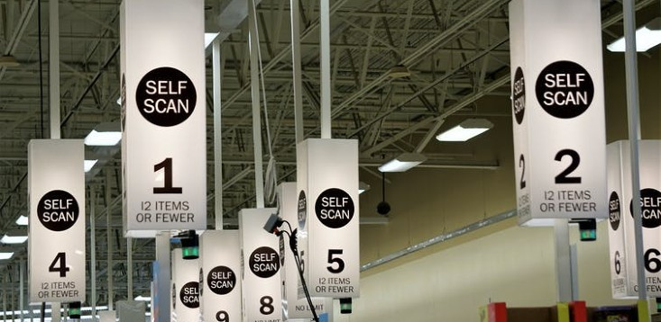 Supermarkets trial self-surveillance system.