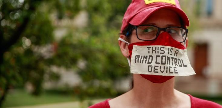 Anti-mask-protester