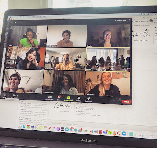olli ella virtual team meeting