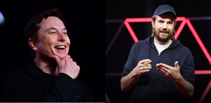 Elon Musk and Mike Cannon-Brookes